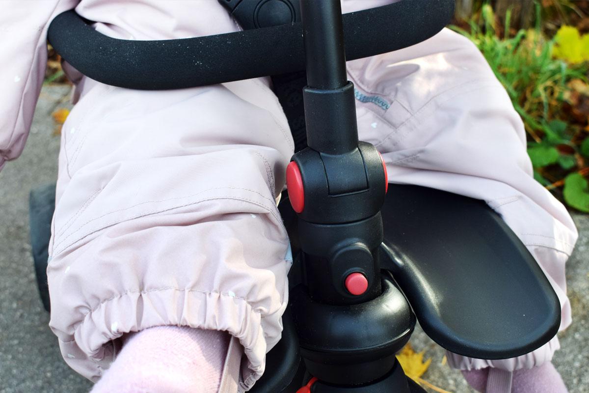 Smartfold Smartrike 500 - Buggy und Dreirad - Produkttest - Mamablog München - Beinablagefläche