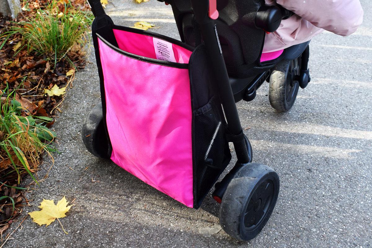 Smartfold Smartrike 500 - Buggy und Dreirad - Produkttest - Mamablog München - geräumige Tasche für Babyutensilien